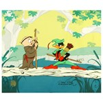 SOLD OUT! LIMITED EDITION Animation Cel with HAND PAINTED Color titled Buck and a Quarter Staff Numbered and HAND SIGNED by CHUCK JONES (1912-2002) with Certificate of Authenticity!