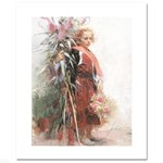 Flower Child LIMITED EDITION Giclee on Canvas by Pino (1939-2010)! Numbered 3/500 and Hand Signed with Certificate of Authenticity!