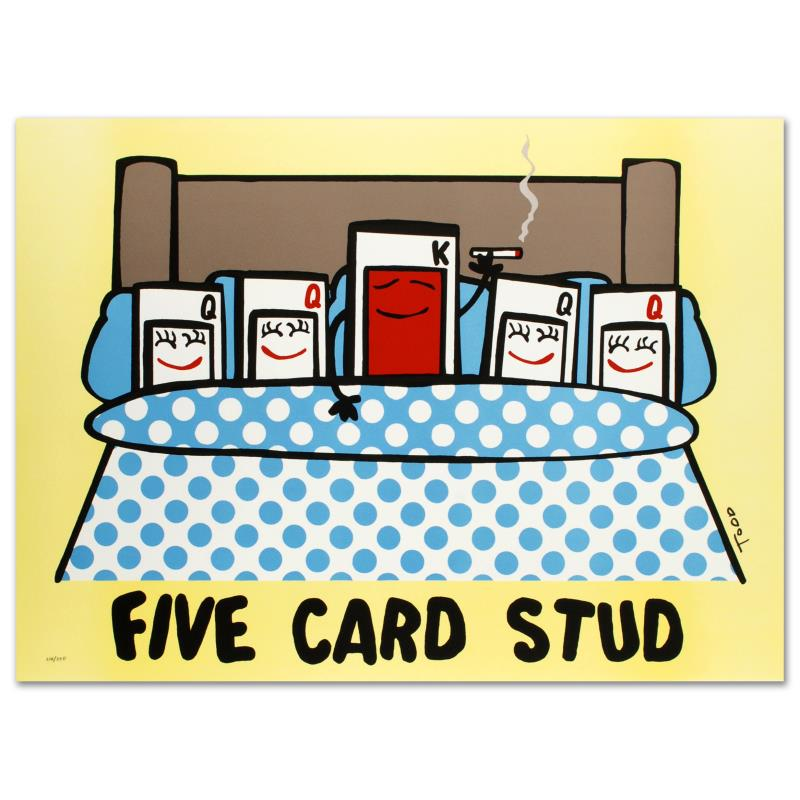 The 5 Card Studs live show is a unique blend of big-time Las Vegas attitude and '70's TV game show schmaltz, all glossed over with a 'washed-up lounge/wedding singer' veneer. It may sound like a strange brew at first, but it's a winning combination that truly works, whether it's at .