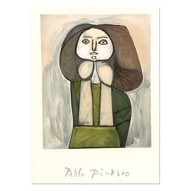 Portrait De Femme A La Robe Verte\