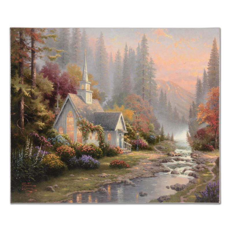 Forest Chapel Impressionism Thomas Kinkade Gallery 225406